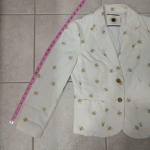 Anthropologie Jackets & Coats - Anthropologie Cream Polkadot Honey Bee Blazer Sz 8
